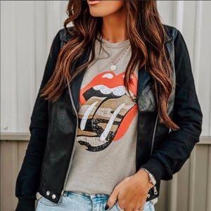 Rolling Stones Camo Lips Tee BEST SELLER